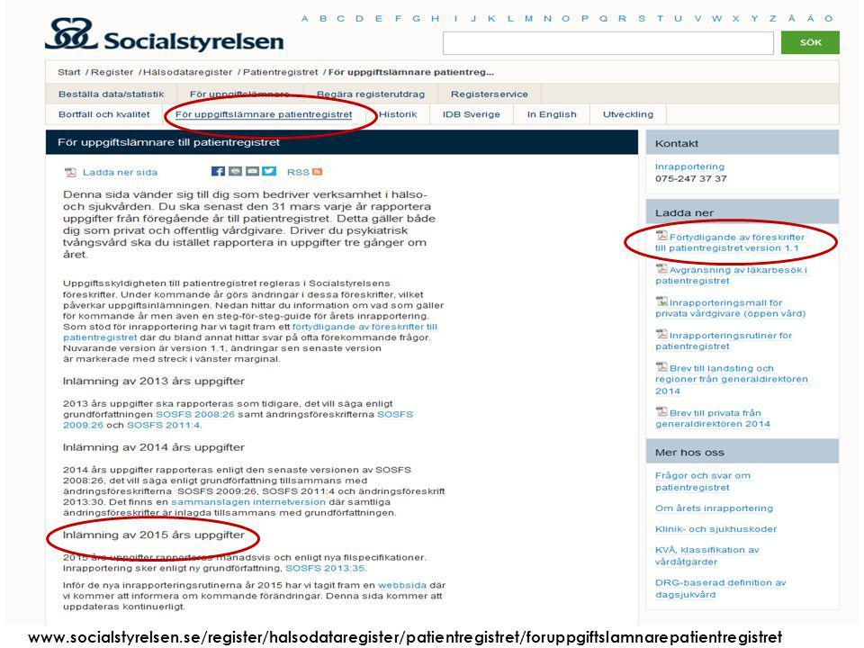 Att visa fotnot, datum, sidnummer Klicka på fliken Infoga och klicka på ikonen sidhuvud/sidfot Klistra in text: Klistra in texten, klicka på ikonen (Ctrl), välj Behåll endast text 2015-03-2126 www.socialstyrelsen.se/register/halsodataregister/patientregistret/foruppgiftslamnarepatientregistret
