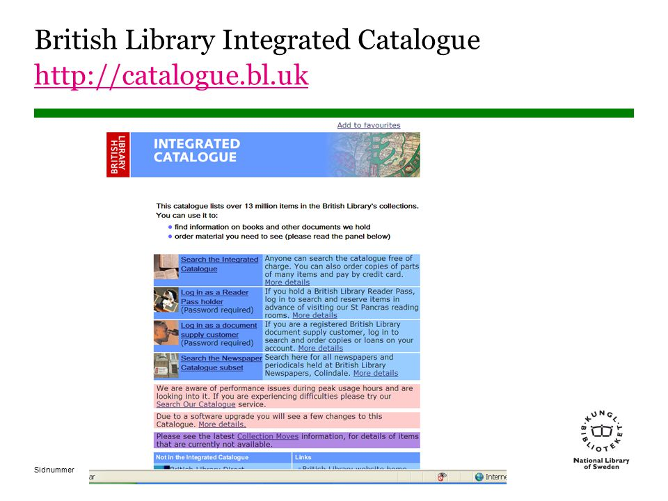 Sidnummer British Library Integrated Catalogue http://catalogue.bl.uk http://catalogue.bl.uk