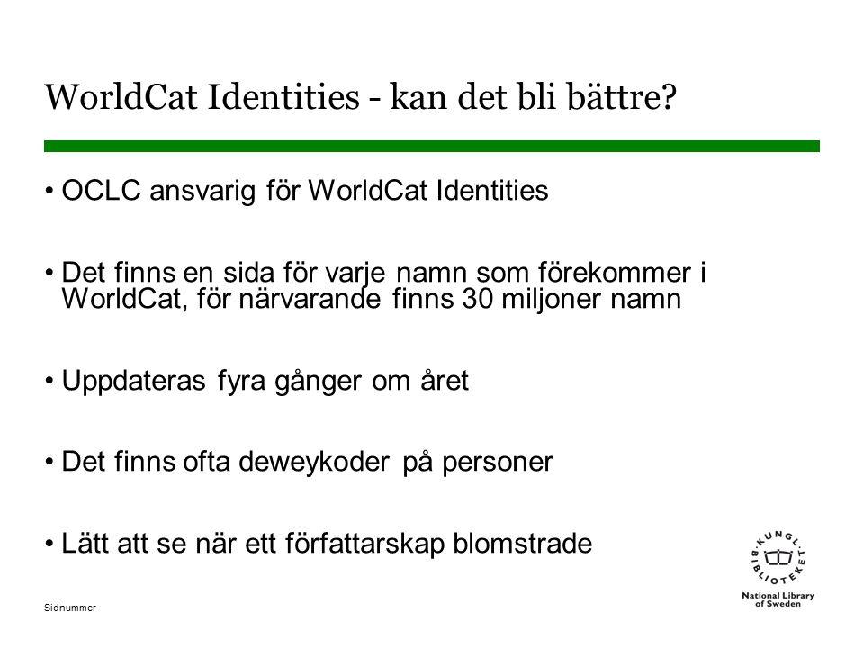 WorldCat Identities - kan det bli bättre.