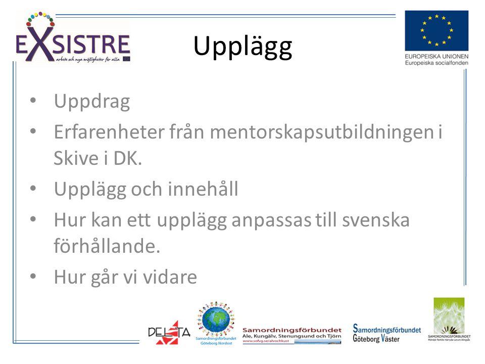 Uppdrag Erfarenheter från mentorskapsutbildningen i Skive i DK.