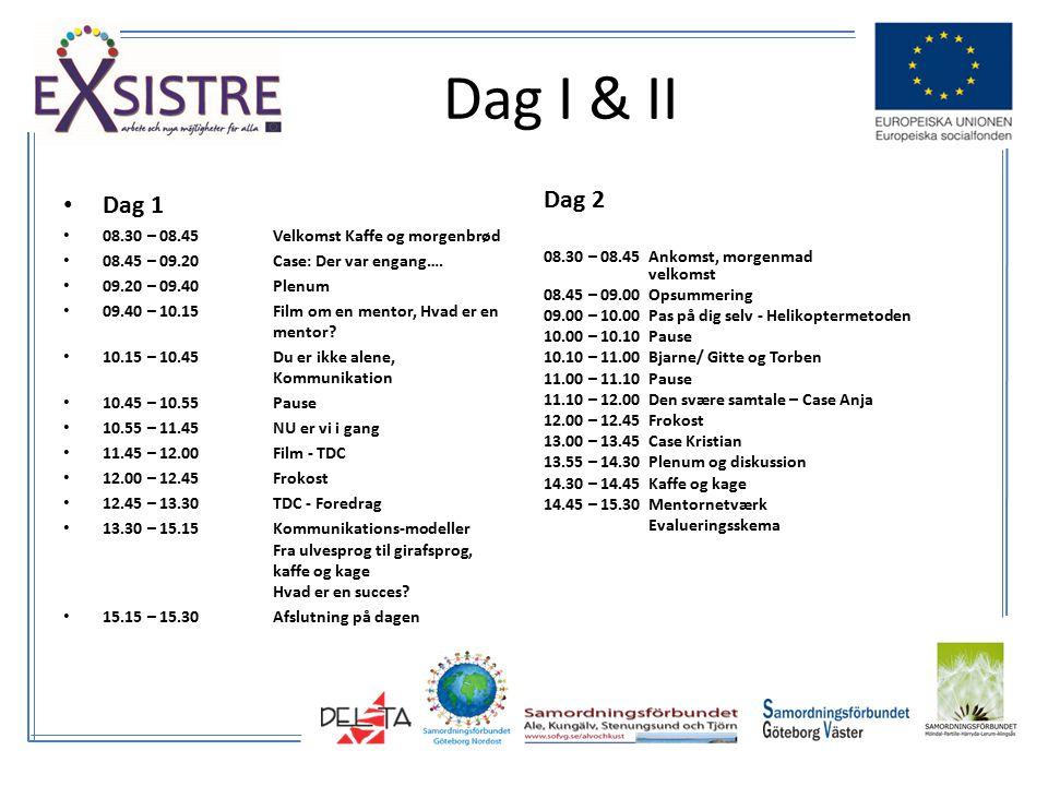 Dag I & II Dag 1 08.30 – 08.45Velkomst Kaffe og morgenbrød 08.45 – 09.20Case: Der var engang….