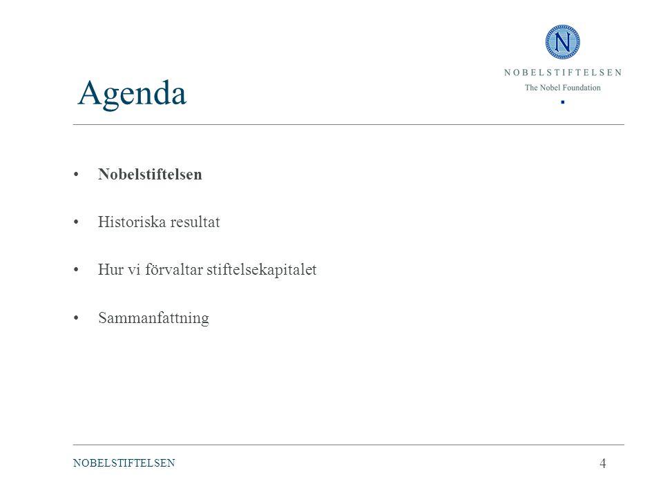 Agenda Nobelstiftelsen Historiska resultat Hur vi förvaltar stiftelsekapitalet Sammanfattning ________________________________________________________