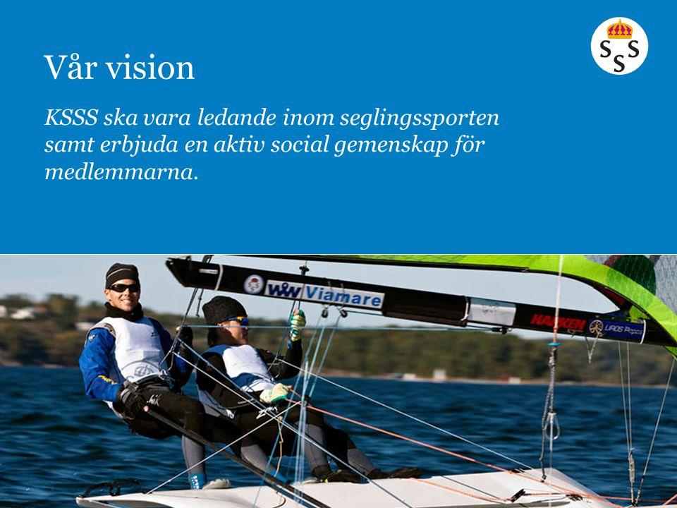 KSSS ska vara ledande inom seglingssporten samt erbjuda en aktiv social gemenskap för medlemmarna. Vår vision