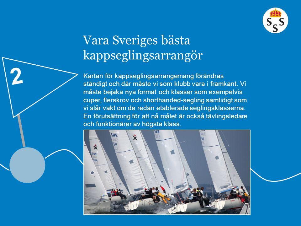 Vara Sveriges bästa kappseglingsarrangör Kartan för kappseglingsarrangemang förändras ständigt och där måste vi som klubb vara i framkant. Vi måste be