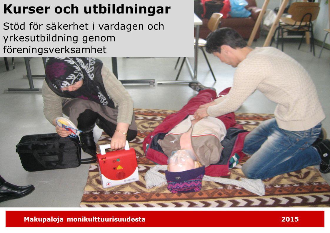 Makupaloja monikulttuurisuudesta2015 Kurser och utbildningar Stöd för säkerhet i vardagen och yrkesutbildning genom föreningsverksamhet