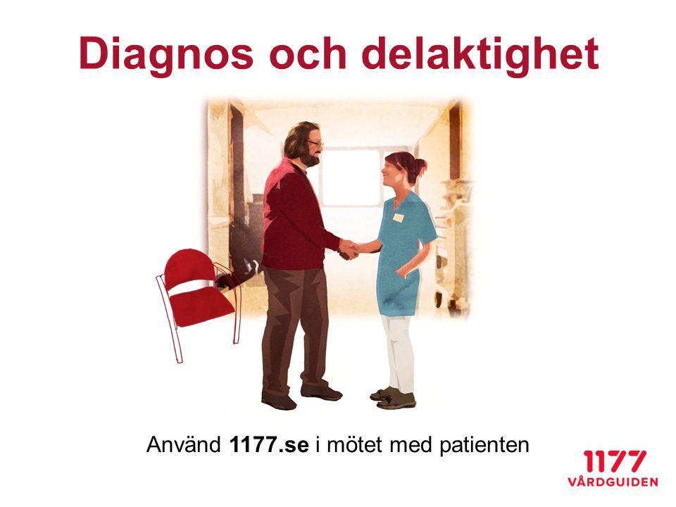 Använd 1177.se i mötet med patienten Diagnos och delaktighet