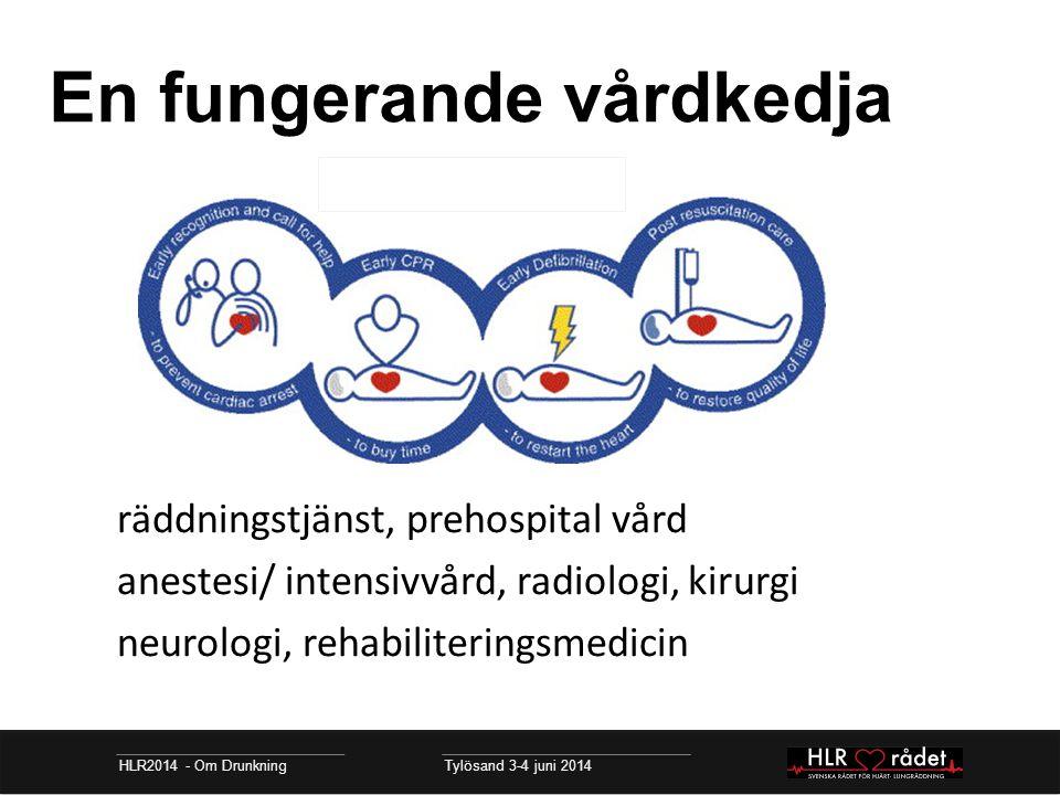 En fungerande vårdkedja HLR2014 - Om Drunkning Tylösand 3-4 juni 2014 räddningstjänst, prehospital vård anestesi/ intensivvård, radiologi, kirurgi neu