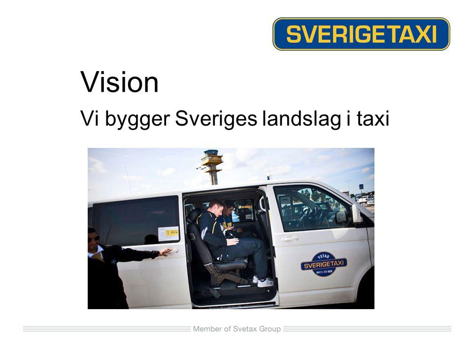 Affärsidé Att som rikstäckande aktör med gemensam profil, erbjuda huvudsakligen företag och affärsresenärer den mest effektiva lösningen för taxitransporter.