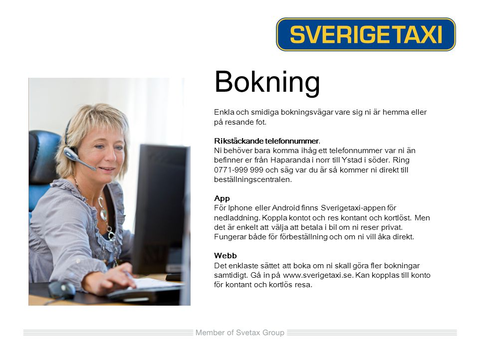Nu kan Du tjäna Eurobonus-poäng på resor med Sverigetaxi.