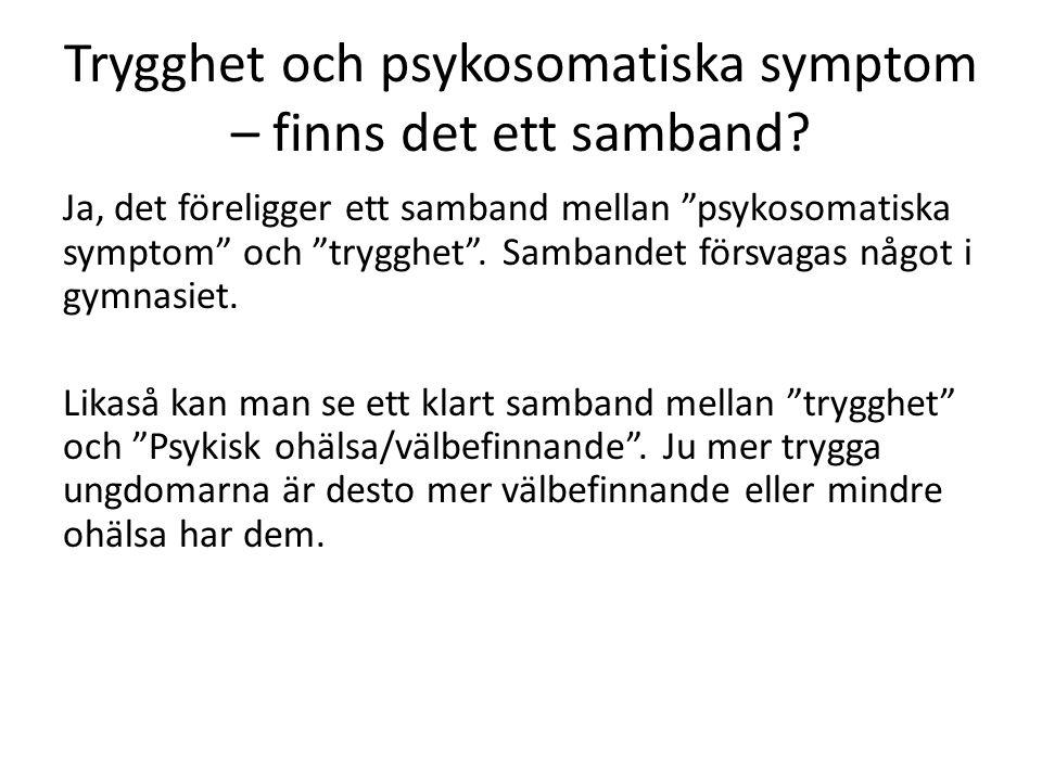 Trygghet och psykosomatiska symptom – finns det ett samband.