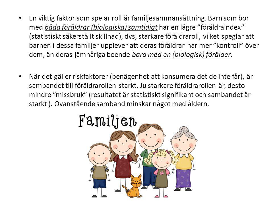 En viktig faktor som spelar roll är familjesammansättning.