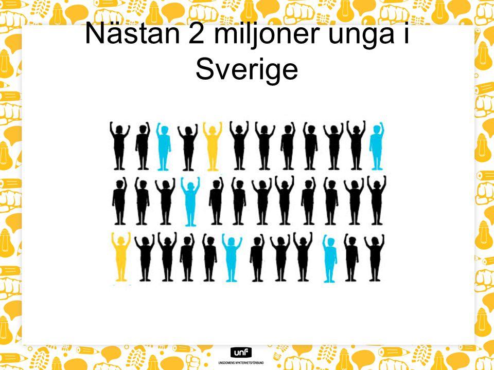Nästan 2 miljoner unga i Sverige