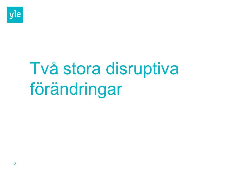 3 Två stora disruptiva förändringar