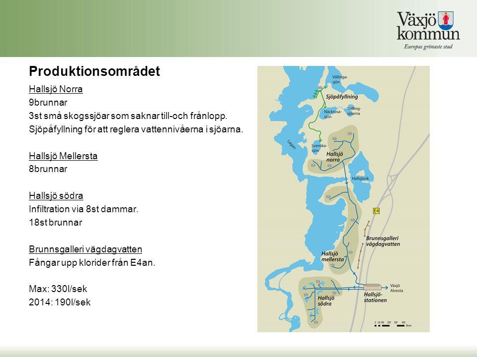 Produktionsområdet Hallsjö Norra 9brunnar 3st små skogssjöar som saknar till-och frånlopp.