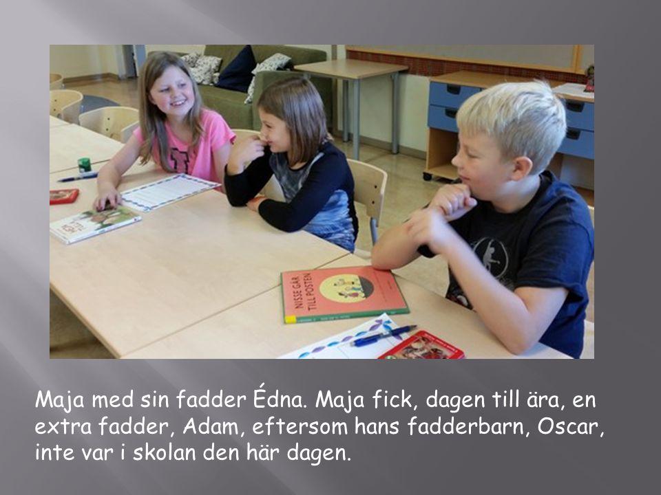Maja med sin fadder Édna.