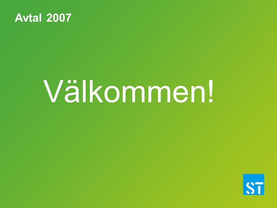 Avtal 2007 Välkommen!