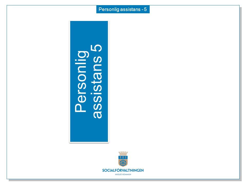 Personlig assistans - 5 Personlig assistans 5