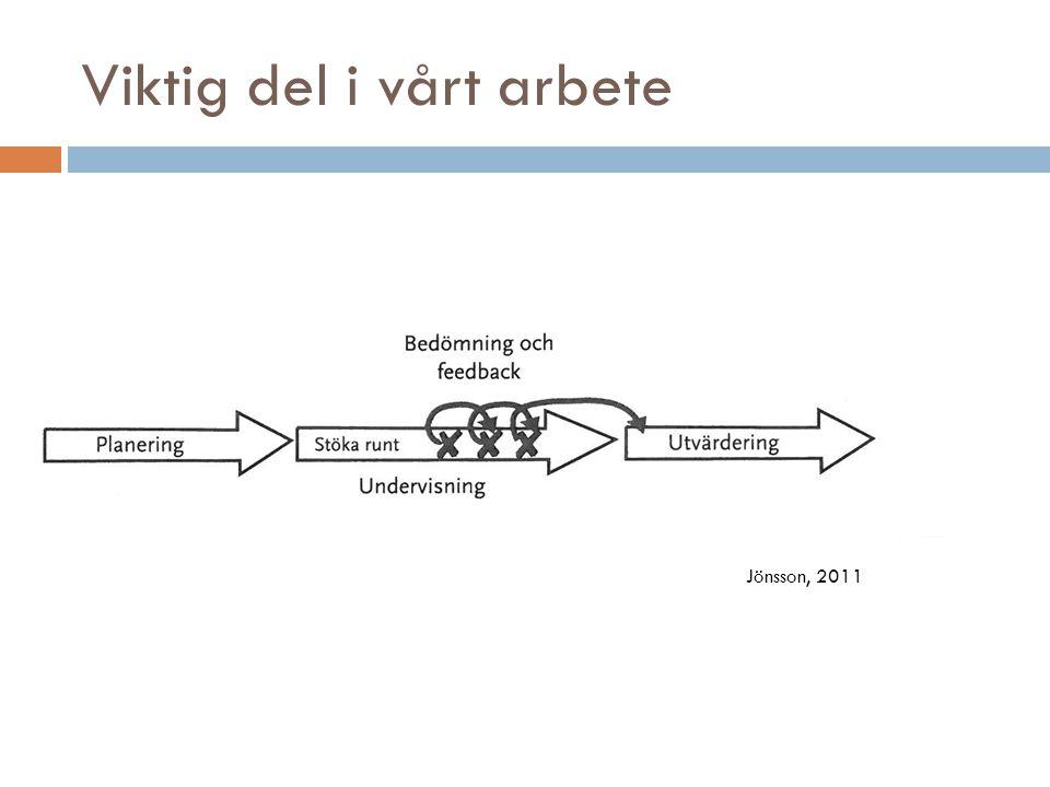 Viktig del i vårt arbete Jönsson, 2011