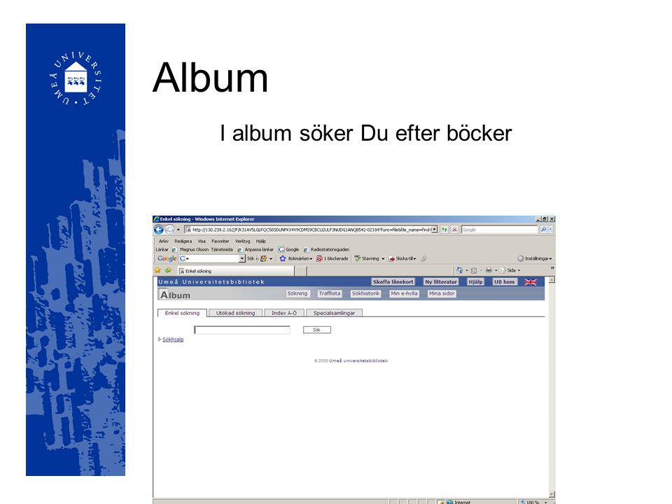 Album I album söker Du efter böcker