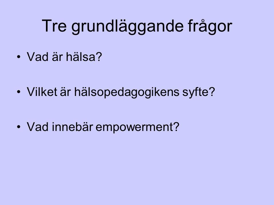 Hälsofrämjande arbete paraplyterm.definition.