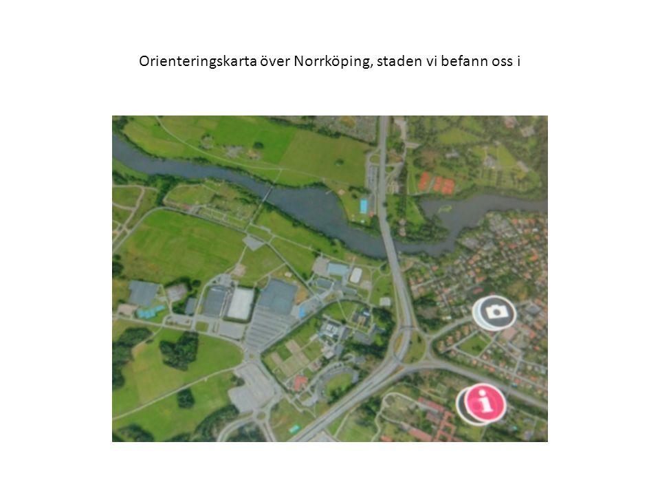 Orienteringskarta över Norrköping, staden vi befann oss i