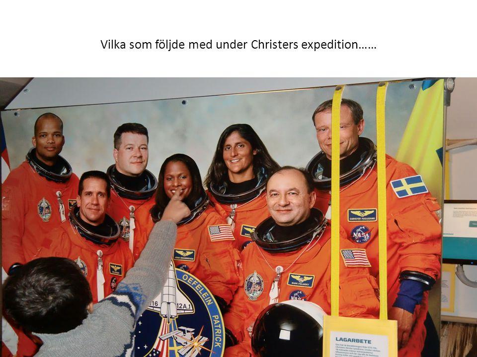 Vilka som följde med under Christers expedition……