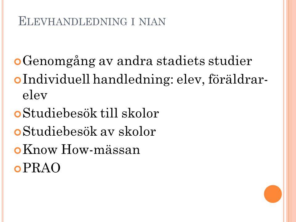 V AD HÄNDER EFTER GRUNDSKOLAN .