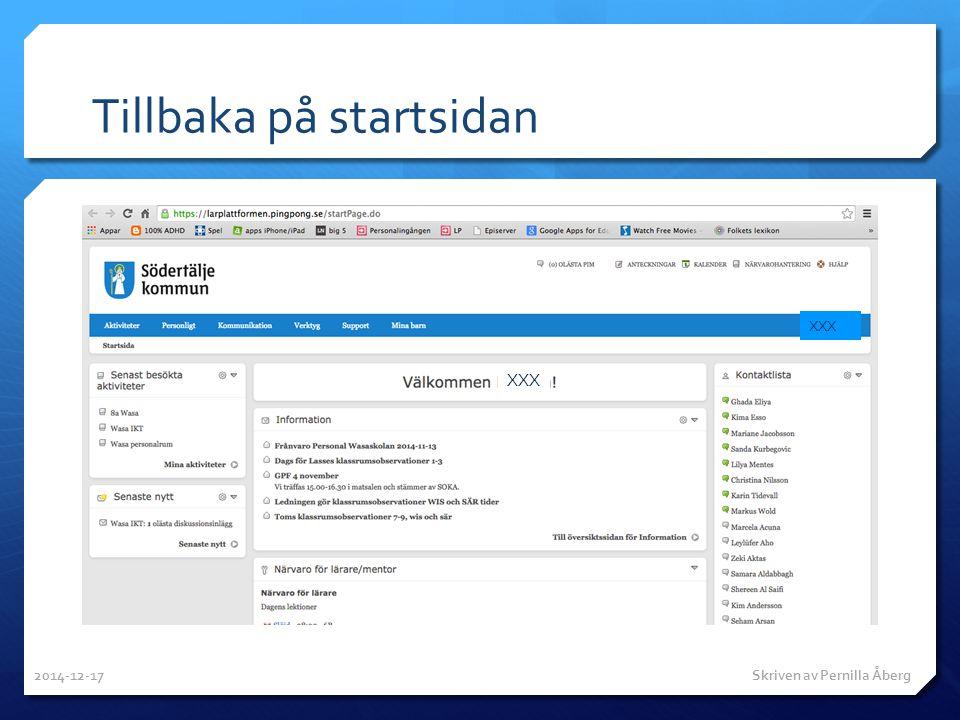 Tillbaka på startsidan XXX 2014-12-17 Skriven av Pernilla Åberg