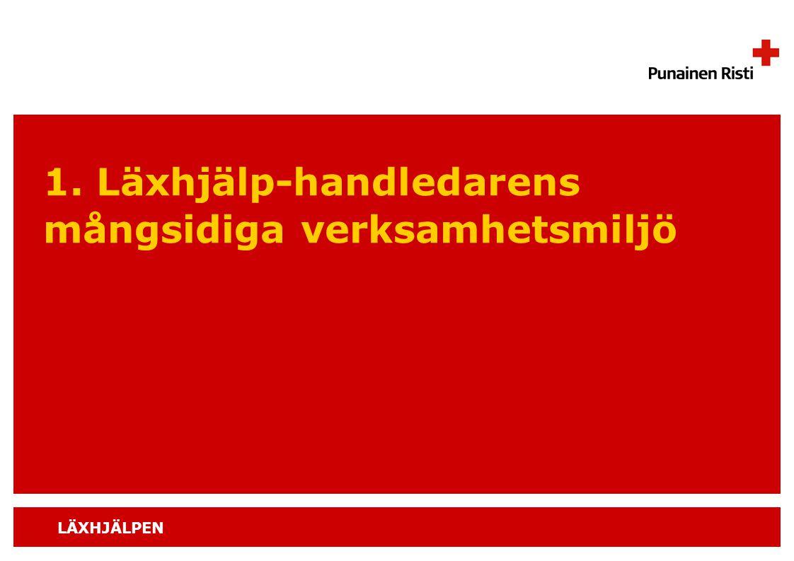 LÄXHJÄLPEN 1. Läxhjälp-handledarens mångsidiga verksamhetsmiljö