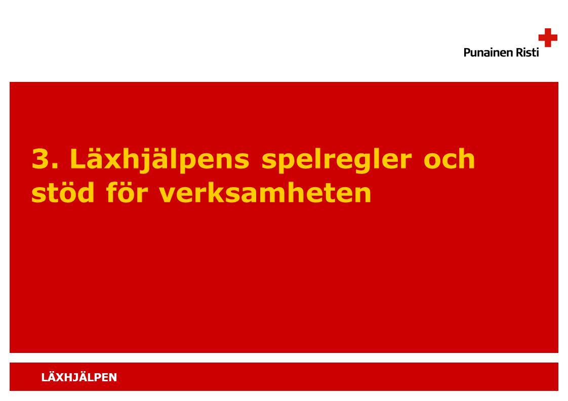 LÄXHJÄLPEN 3. Läxhjälpens spelregler och stöd för verksamheten