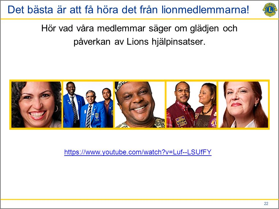 23 Lion Clubs International Foundations arbete Vår globala stiftelse - LCIF.