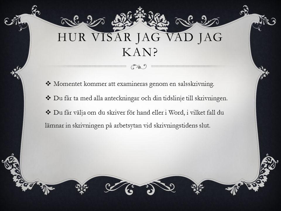 VAD HAR JAG TRÄNAT.