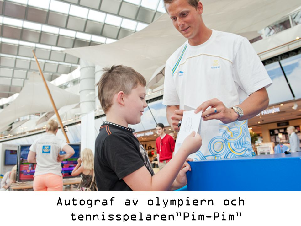 """Autograf av olympiern och tennisspelaren""""Pim-Pim"""""""