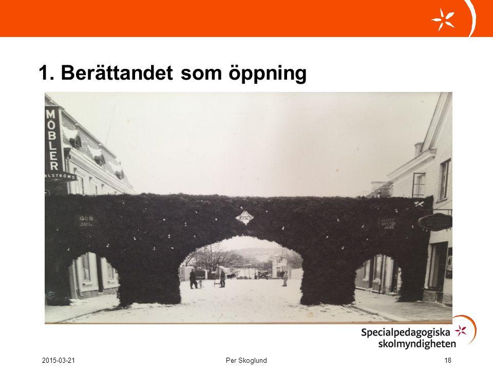 1. Berättandet som öppning 2015-03-21Per Skoglund18