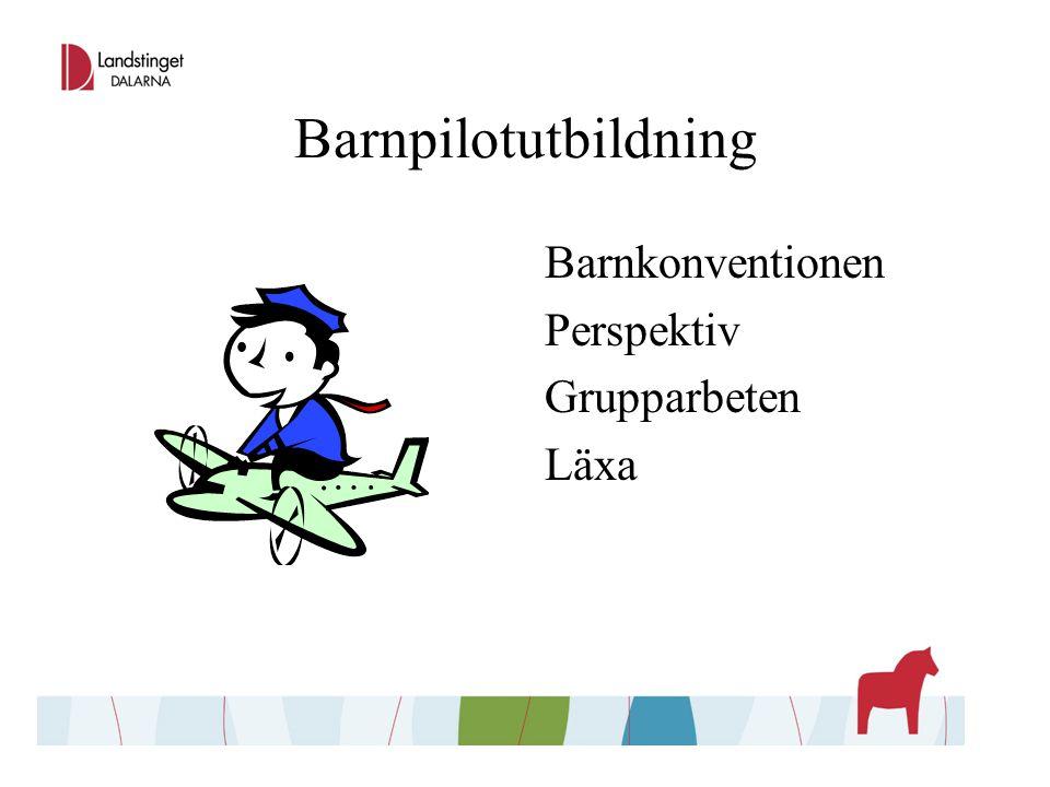 Barnpilotutbildning Barnkonventionen Perspektiv Grupparbeten Läxa