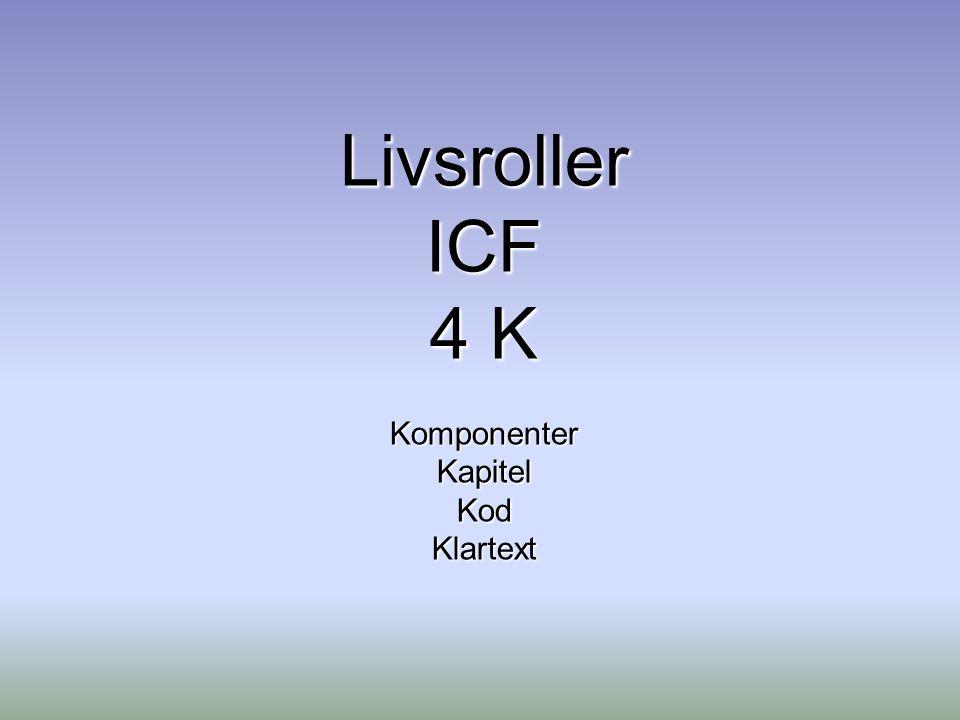 LivsrollerICF 4 K KomponenterKapitelKodKlartext