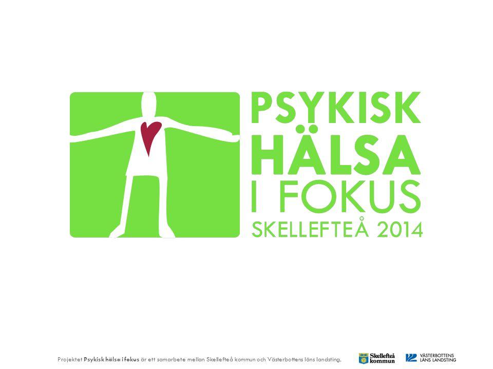 Lena Stenvall och Åsa Forssell Projektet Psykisk hälsa i fokus är ett samarbete mellan Skellefteå kommun och Västerbottens läns landsting.