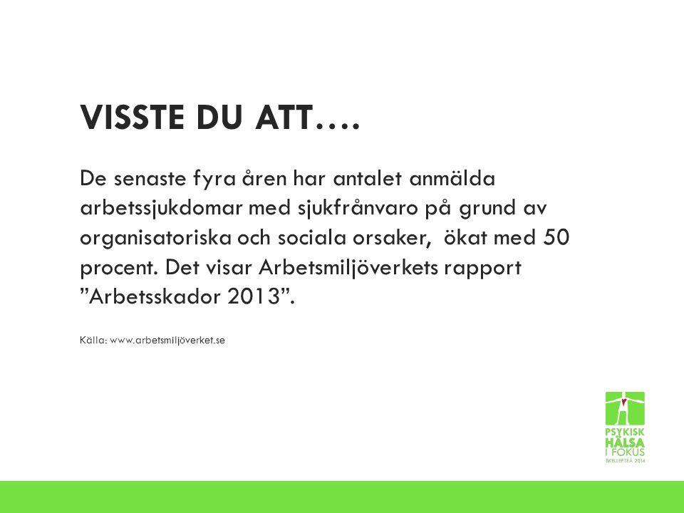 VISSTE DU ATT….Västerbottens län har bäst psykisk hälsa i Sverige.