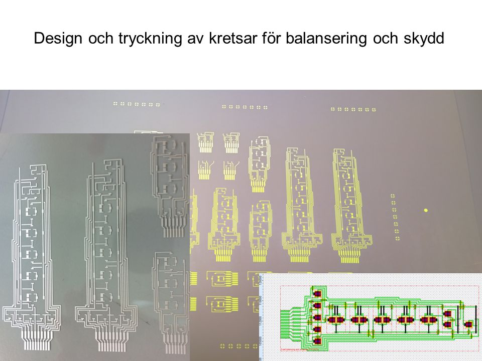 www.acreo.se MODULIT Design och tryckning av kretsar för balansering och skydd