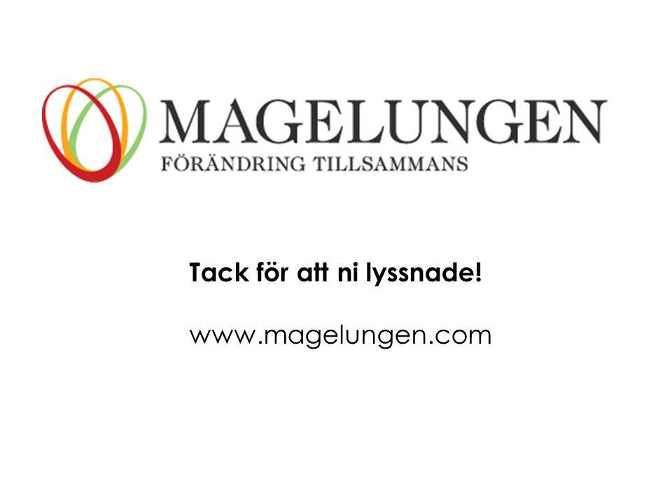 Tack för att ni lyssnade! www.magelungen.com