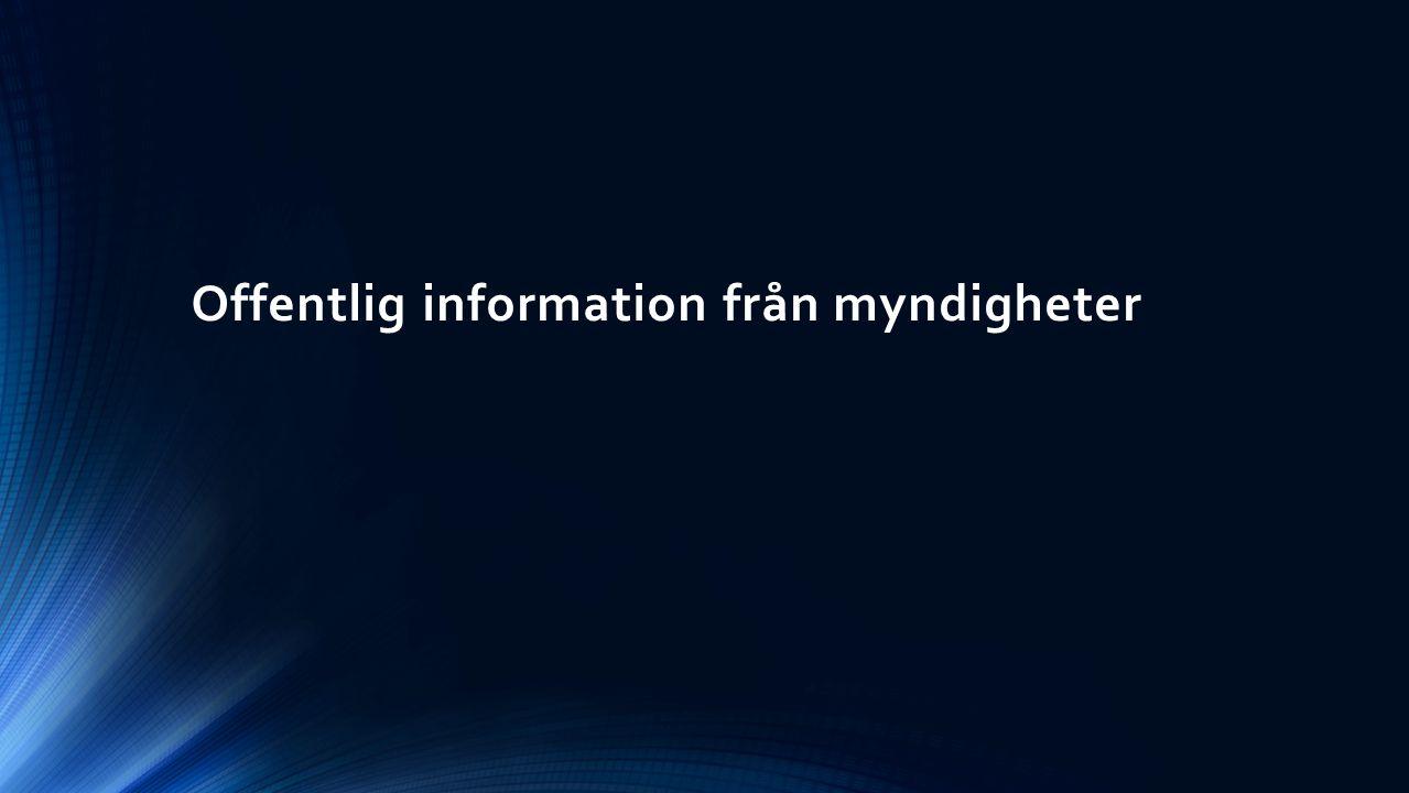 Offentlig information från myndigheter