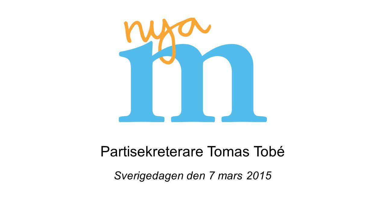 Partisekreterare Tomas Tobé Sverigedagen den 7 mars 2015