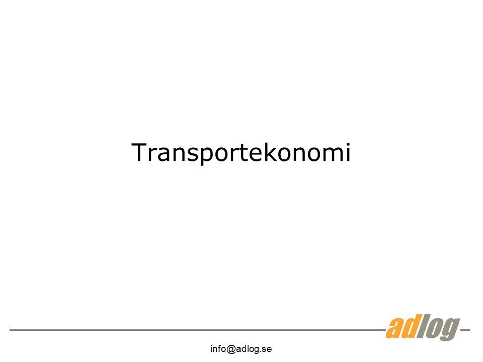 info@adlog.se Transportekonomi