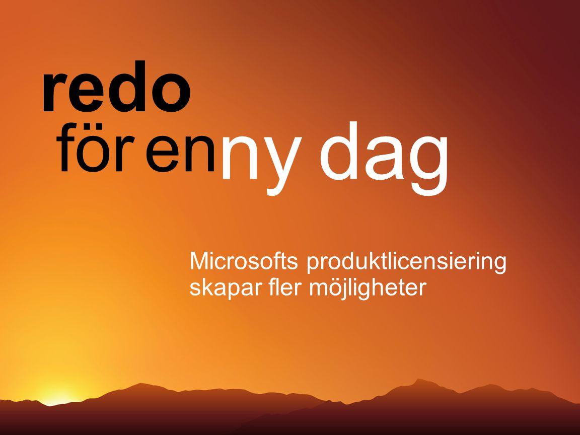 Microsofts produktlicensiering skapar fler möjligheter redo för en ny dag