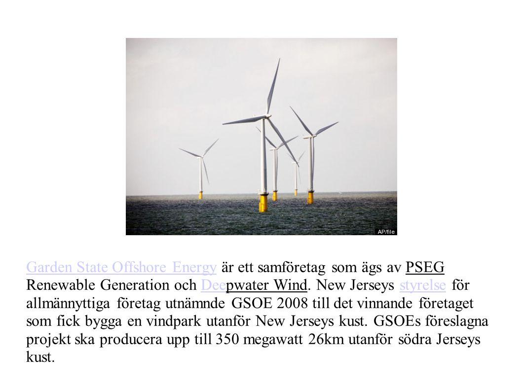 Garden State Offshore EnergyGarden State Offshore Energy är ett samföretag som ägs av PSEG Renewable Generation och Deepwater Wind.