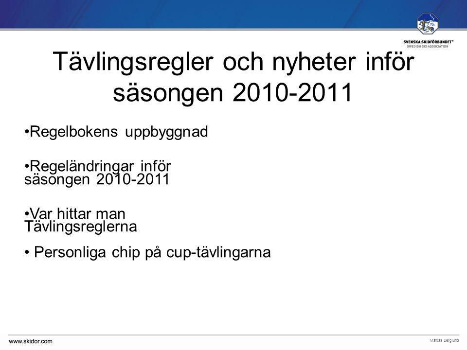 SVENSKA SKIDFÖRBUNDET Tävlingsregler ICR 2004 SSF regler Kompletteringar barn-ungdom Svenska tillägg