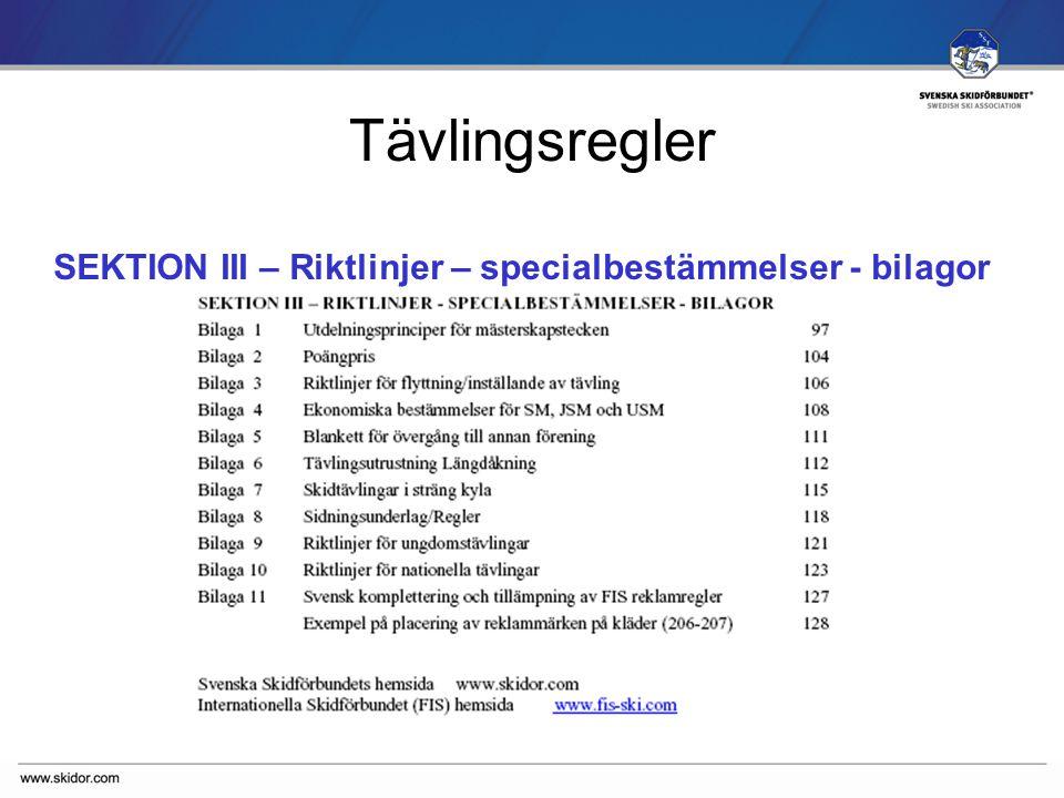 SVENSKA SKIDFÖRBUNDET Sektion II – B.