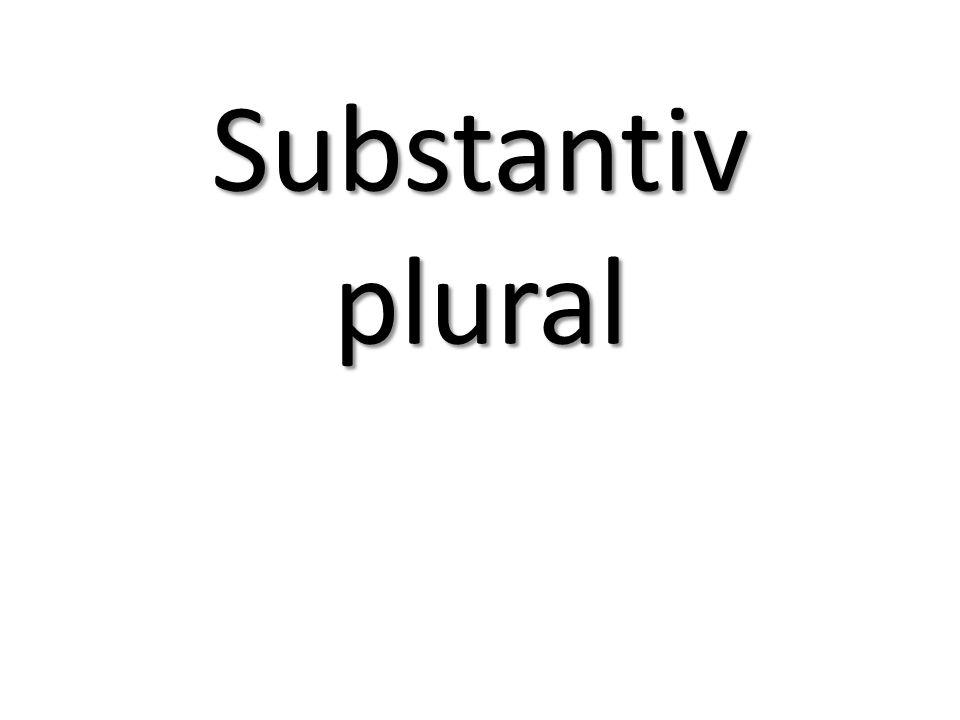 Plural Man bildar (=gör) plural i svenskan på fem olika sätt.