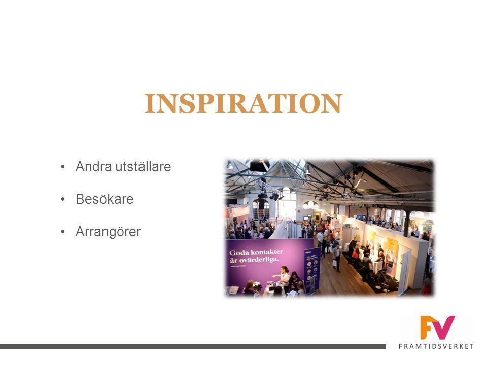 INSPIRATION Andra utställare Besökare Arrangörer