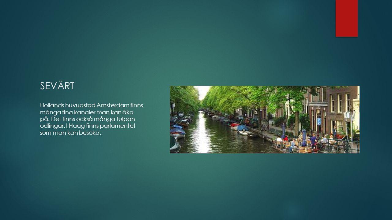 SEVÄRT Hollands huvudstad Amsterdam finns många fina kanaler man kan åka på.